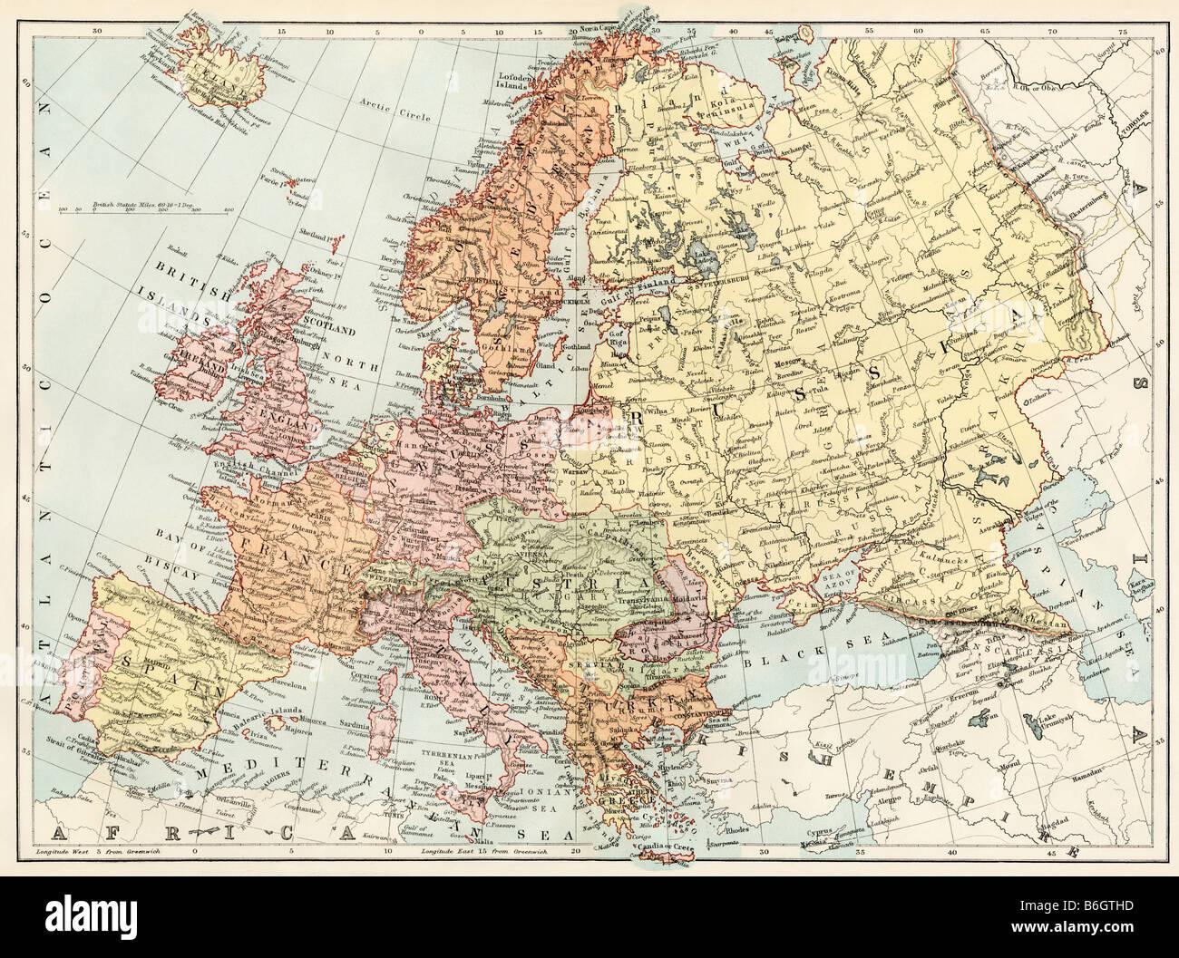 Vector Map Europe Russia Stockfotos & Vector Map Europe ...