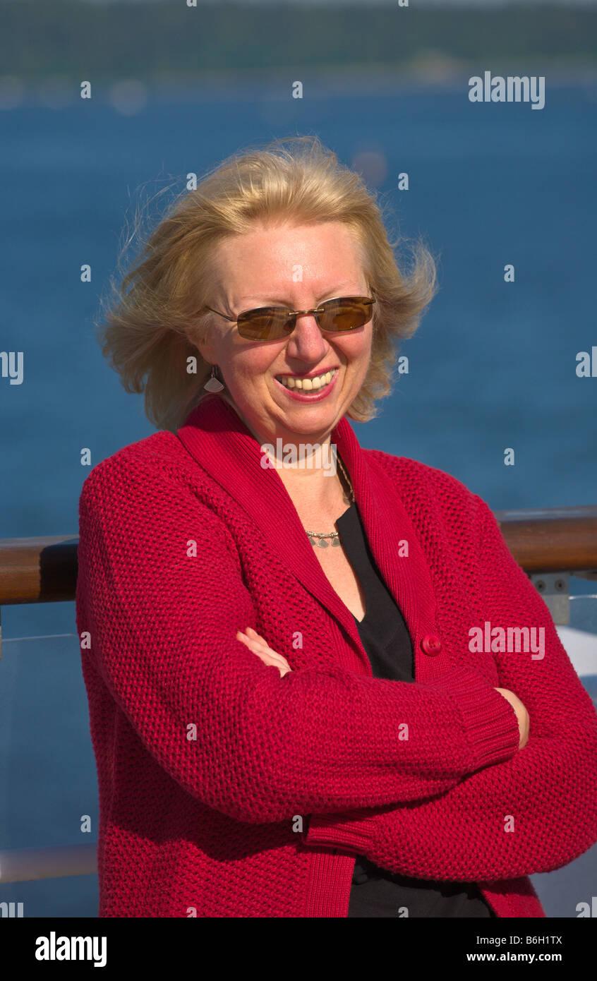 Frau der 50er Jahre Stockbild