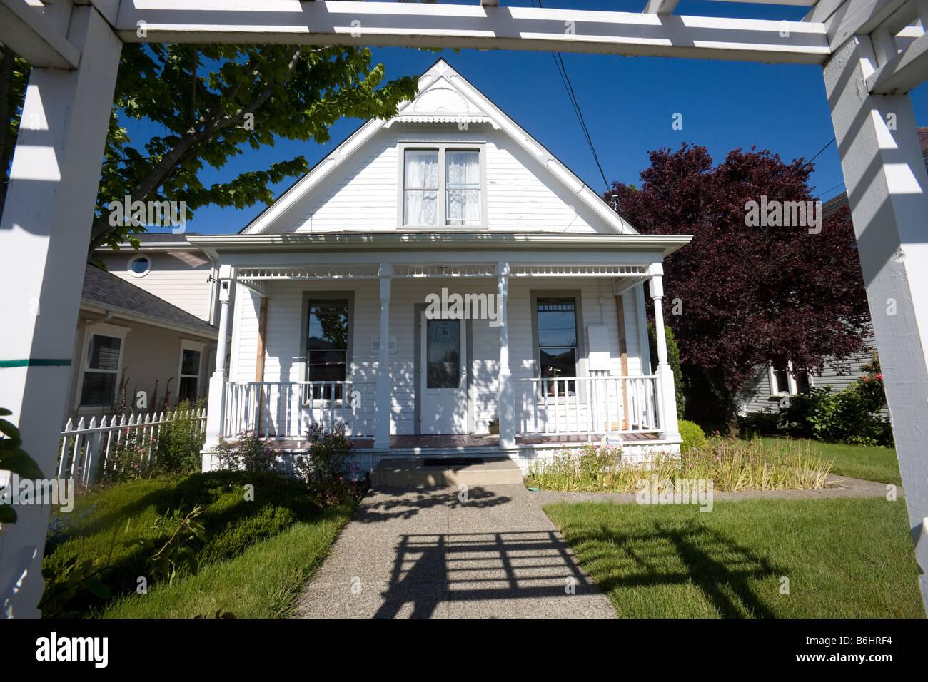 Das David-Haus. Einer der ältesten verbleibenden Wohnungen in Florence, Oregon, Vereinigte Staaten Stockbild