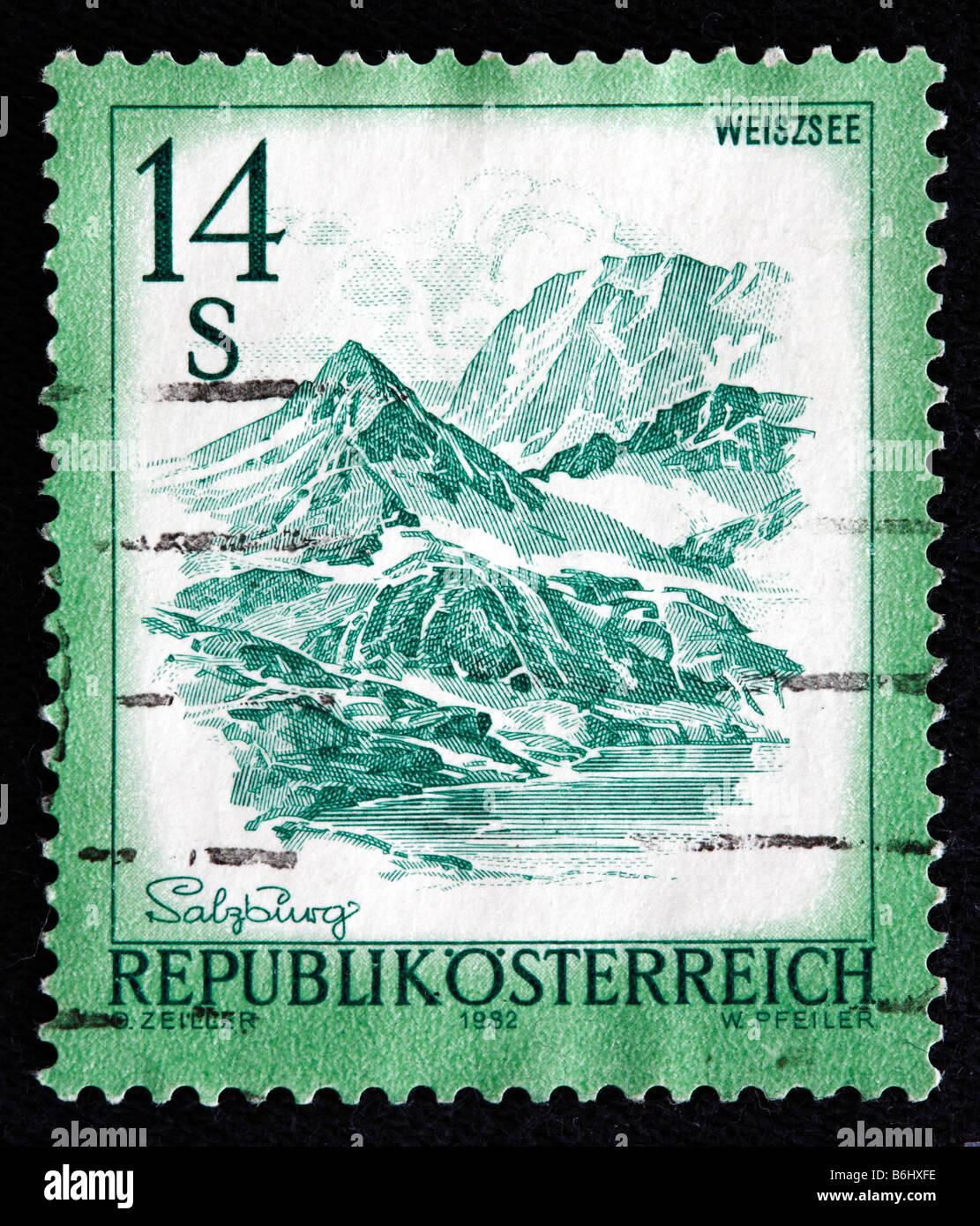 Mount Weiszsee Briefmarke Osterreich 1982 Stockbild