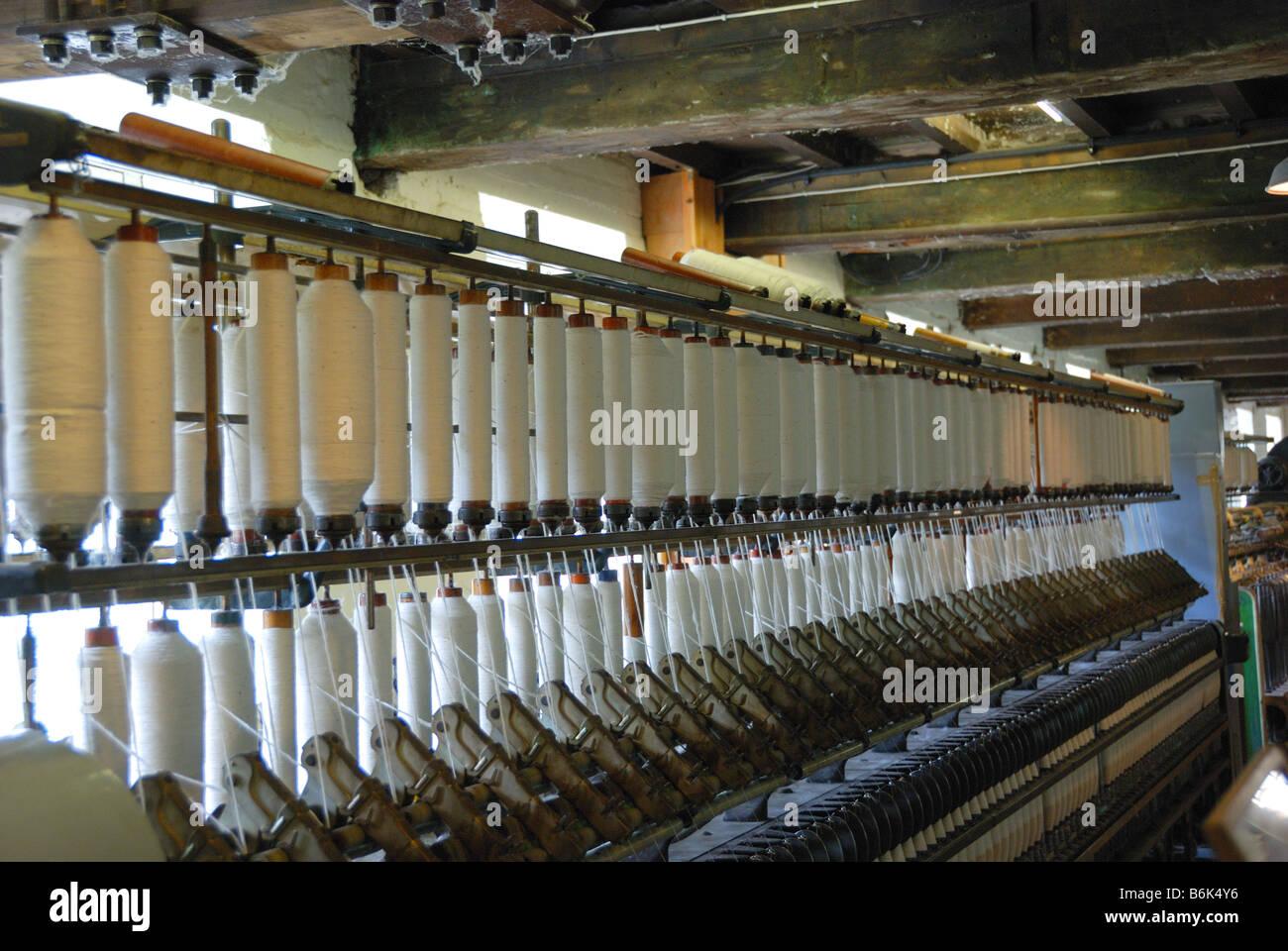 baumwolle spulen in baumwollspinnerei manchester england