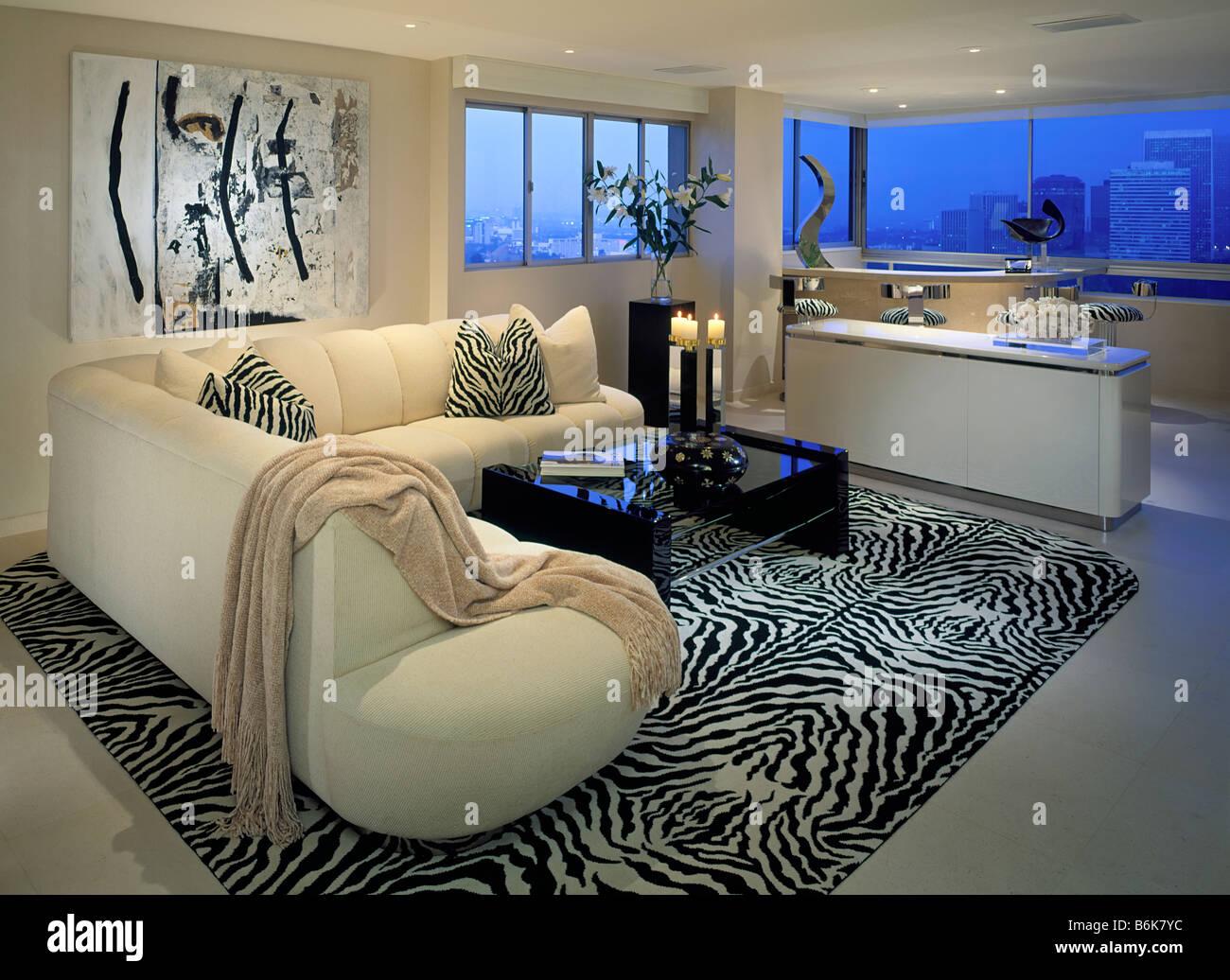 Wohnzimmer, Wohn, Lebensstil, Innenraum, Fenster blau Licht, Haus ...