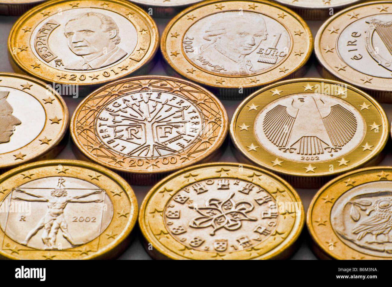 1 Euro Münzen Aus Spanien österreich Irland Niederlande Frankreich