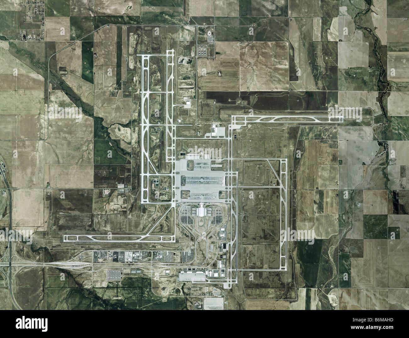 Luftbildkarte der Denver International Airport KDEN größte ...