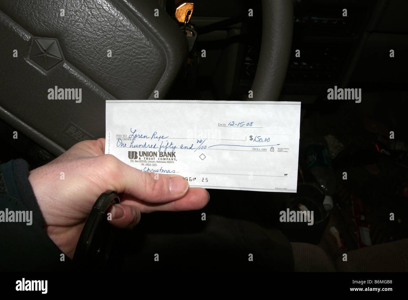 Verrechnungsscheck Für 150 Us Dollar Stockfoto Bild 21350204 Alamy