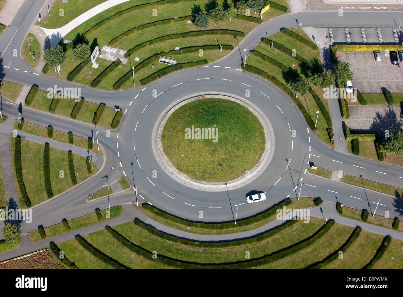 Kreisverkehr in der Nähe von Münster, Deutschland Stockbild