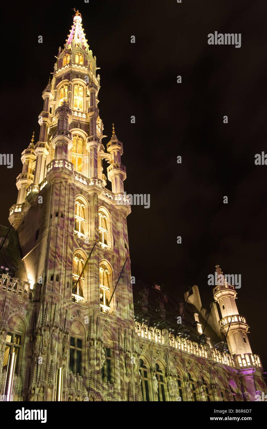 Weihnachtsbeleuchtung Brüssel Dezember Stockbild