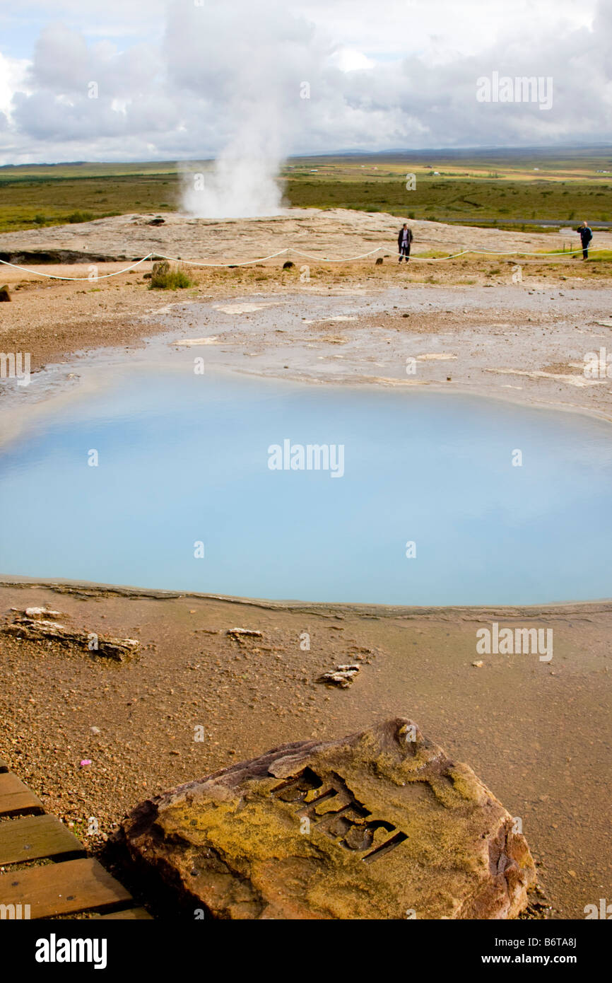 Blesi geothermische Frühling Island Stockfoto