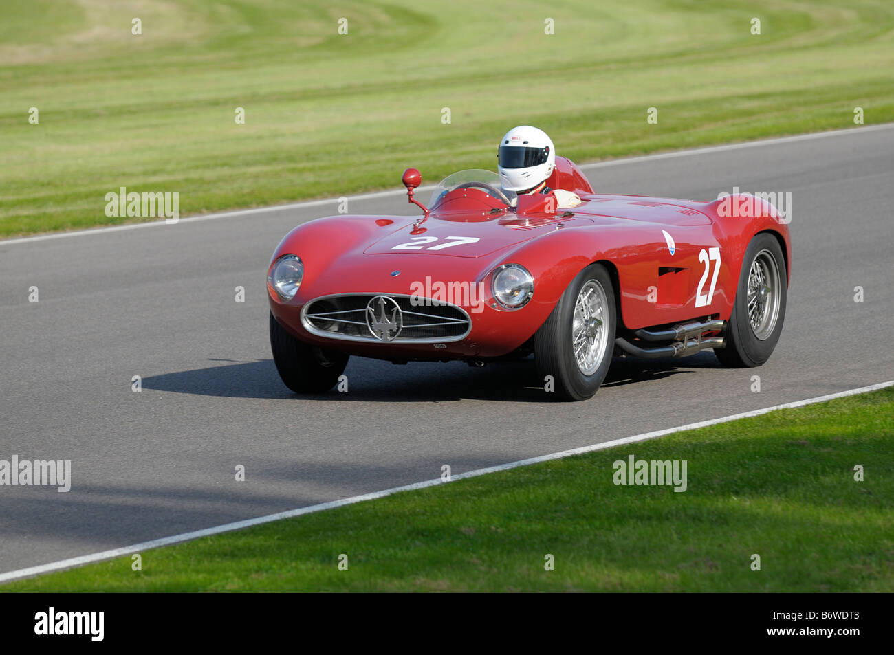 Beim Goodwood Revival meeting September 2008 Maserati 300 s 1955 2991cc Tony Smith Stockbild
