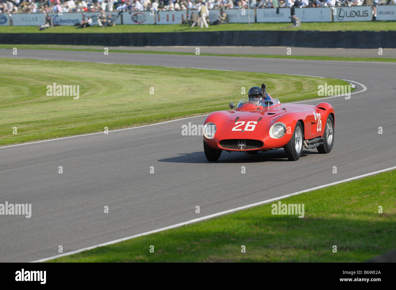 Beim Goodwood Revival meeting September 2008 Maserati 300 s 1955 2995cc Hugh Taylor Stockbild
