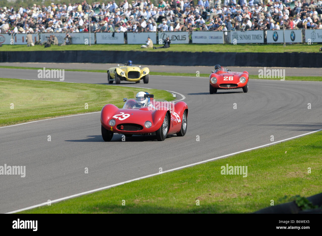 Beim Goodwood Revival meeting September 2008 Maserati Tipo 61 Birdcage 1959 2890cc Nick Mason Stockbild