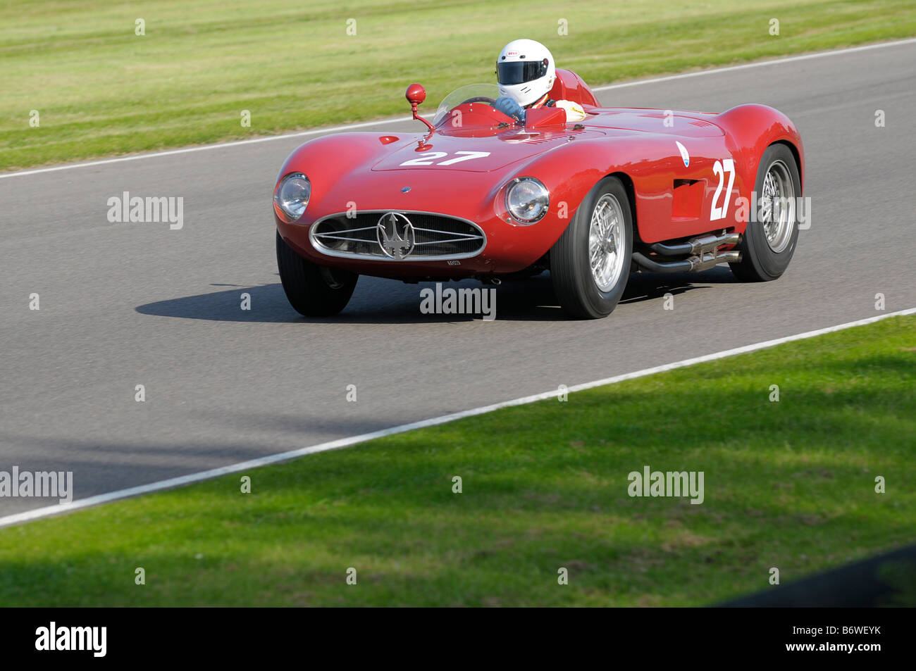 Beim Goodwood Revival meeting September 2008 Maserati 300 s 1955 2991cc Tony Smith Stockbild