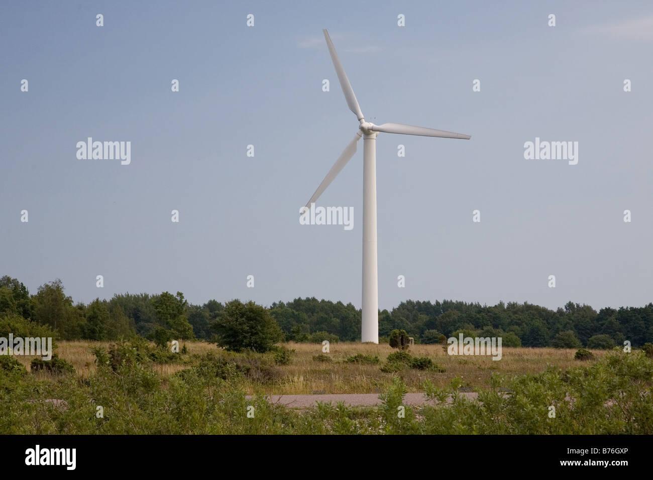 Wind-Generator, Insel Saaremaa, Estland, Europa Stockbild