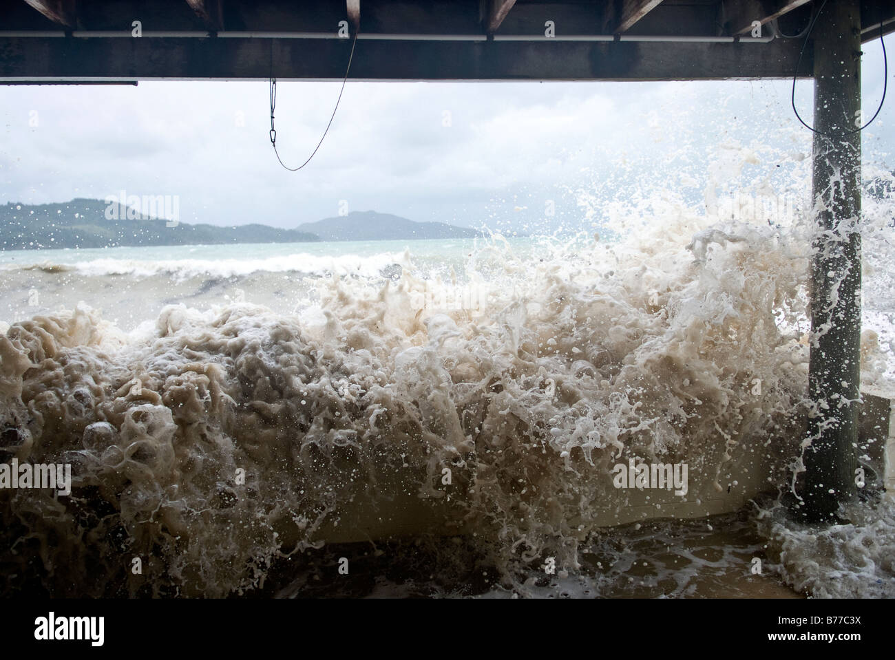 Sturmflut im Zyklon-Saison in Far North Queensland, Australien Stockbild
