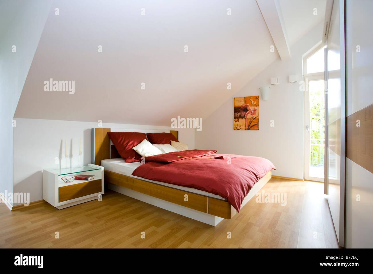 Modernes Schlafzimmer, moderne Schlafzimmer Stockfoto, Bild ...