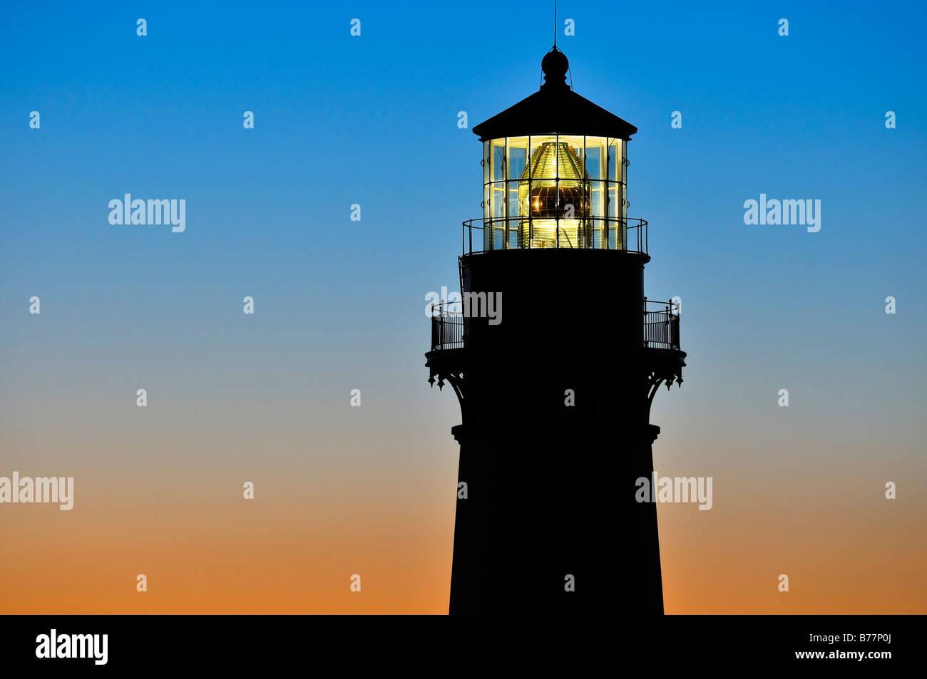 Yaquina Head Lighthouse, höchste Leuchtturm in Oregon, 28,5 m Punkt von Interesse, Yaquina Head, Oregon, USA, Stockbild