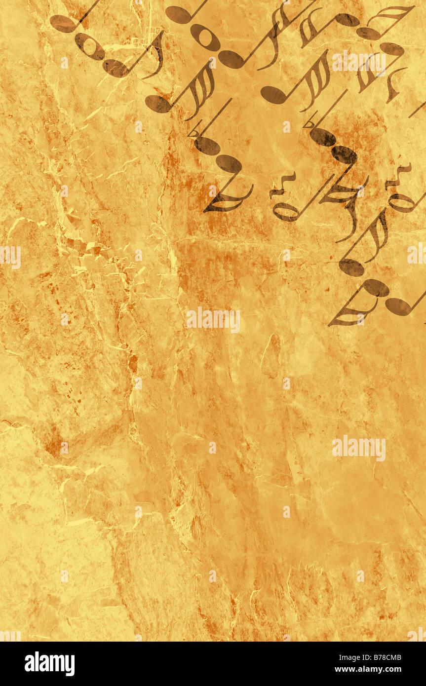 Bild von der Hintergrundmusik im Grunge-Stil - Grafik Stockbild