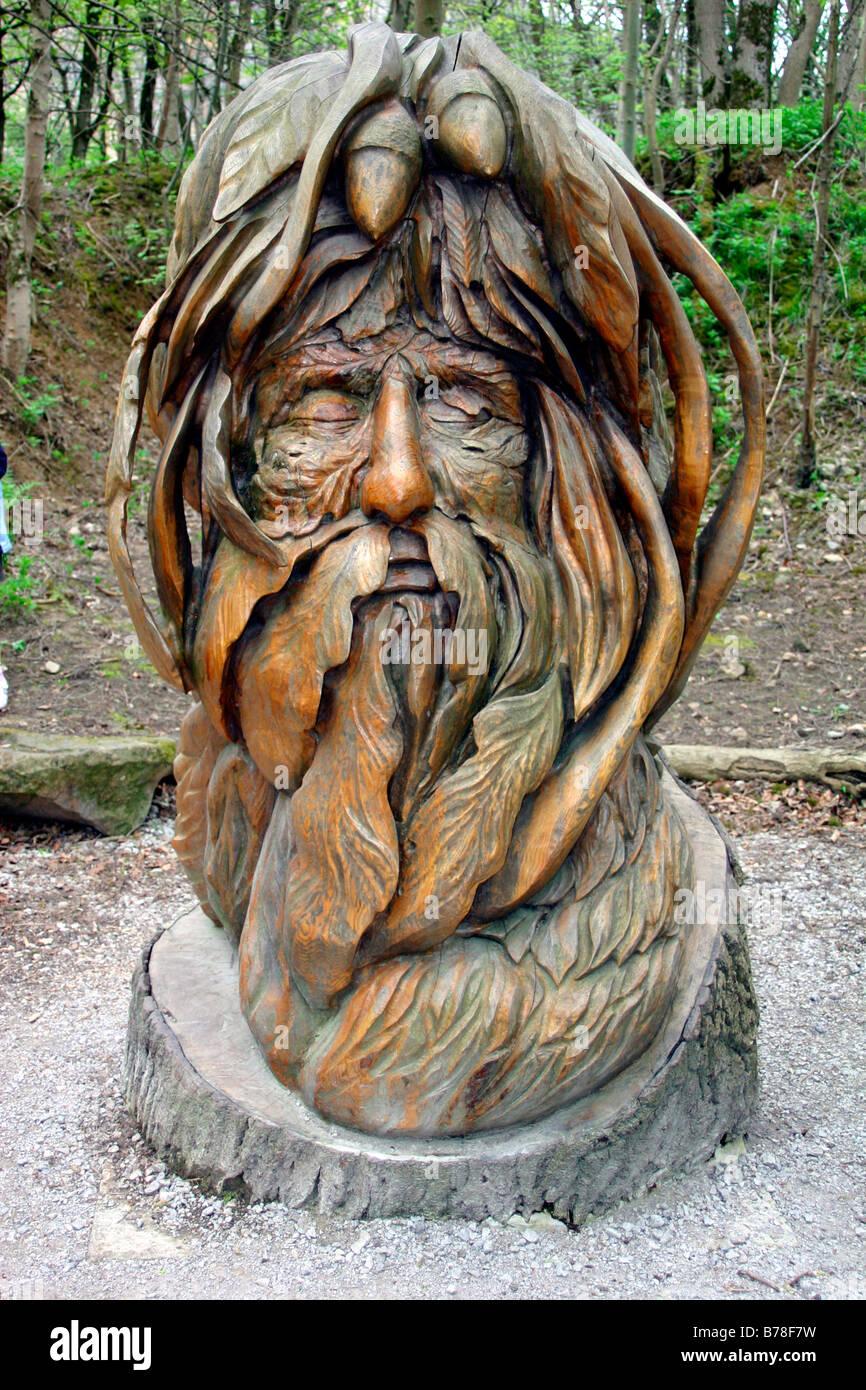 Oak leaf carving stockfotos bilder alamy
