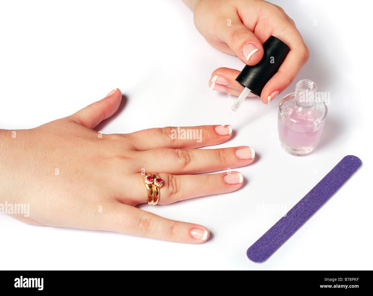 French Nails Stockfotos & French Nails Bilder - Alamy
