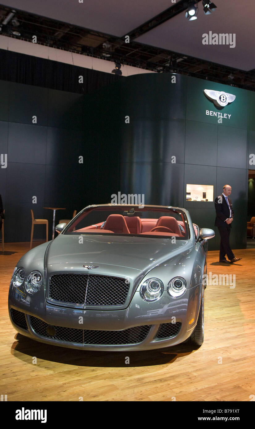 Bentley Continental GTC Speec Stockbild