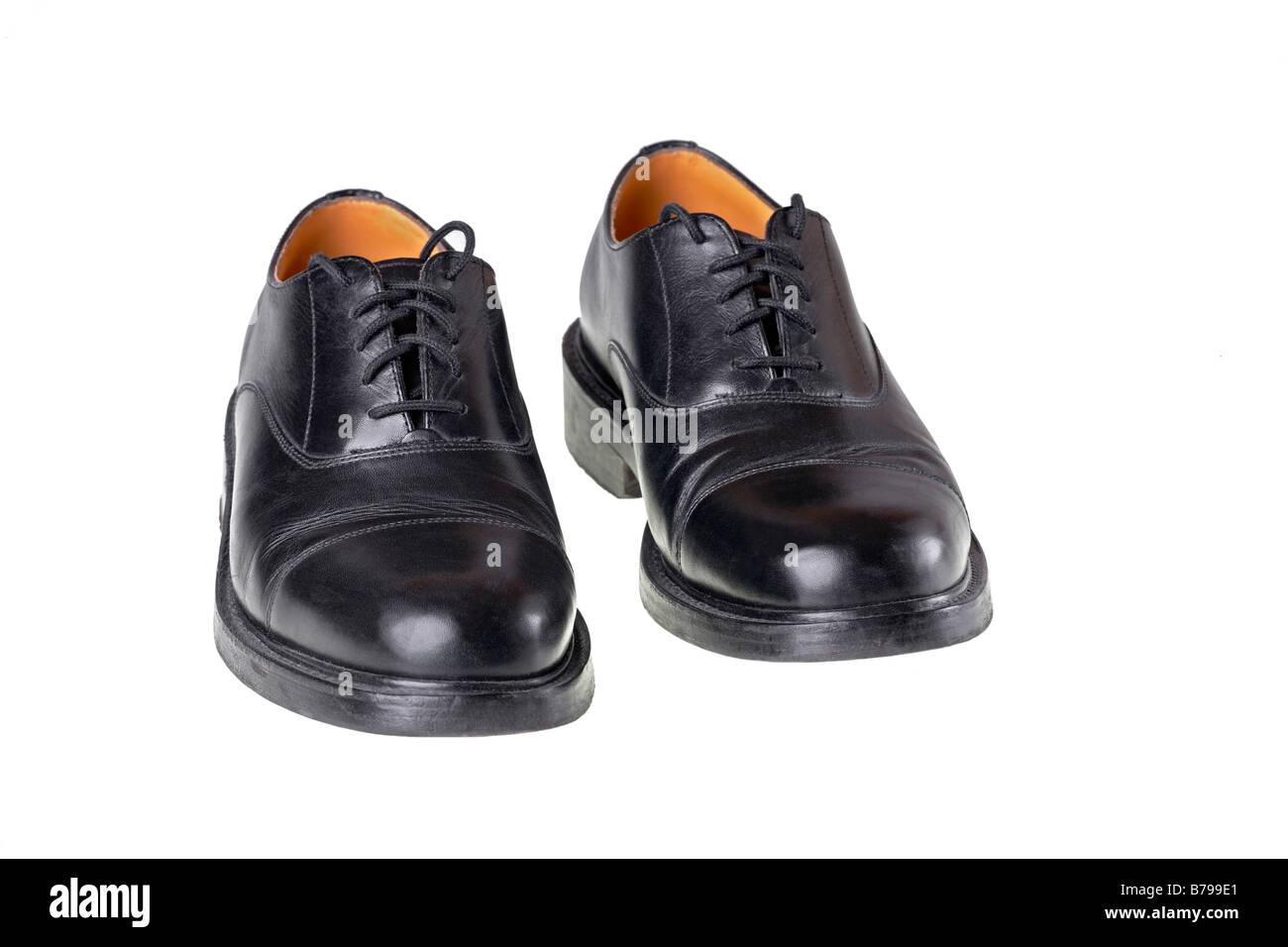 separation shoes d8758 dc9ba ein paar schwarze Leder Herren Schuhe Stockfoto, Bild ...