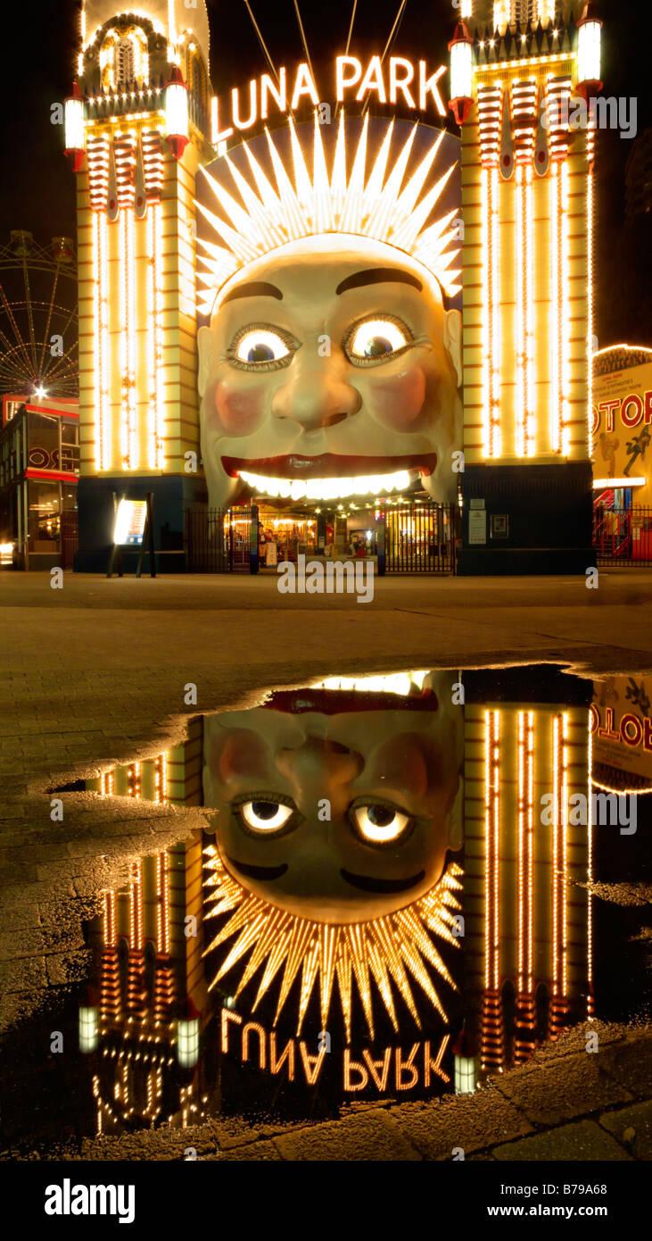 Luna Park, Sydney, Australien Stockbild