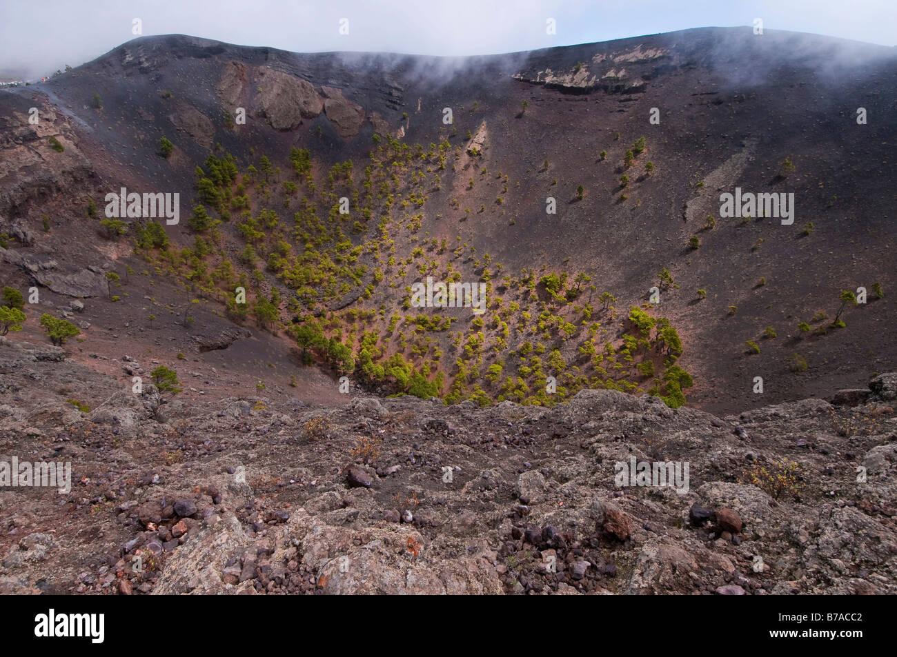 San Antonio-Vulkan, Vulkankrater, La Palma, Kanarische Inseln, Spanien, Europa Stockbild