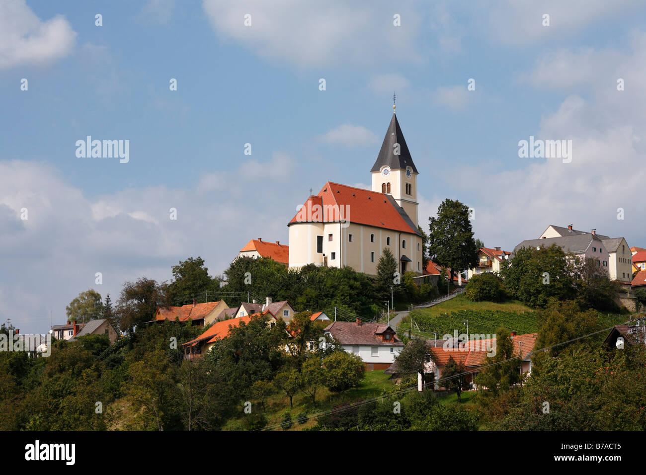 St Anna Am Aigen Steiermark österreich Europa Stockfoto Bild