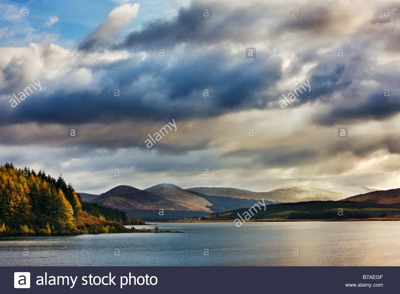 Loch Doon, Dumfries and Galloway, Schottland, Großbritannien Stockbild