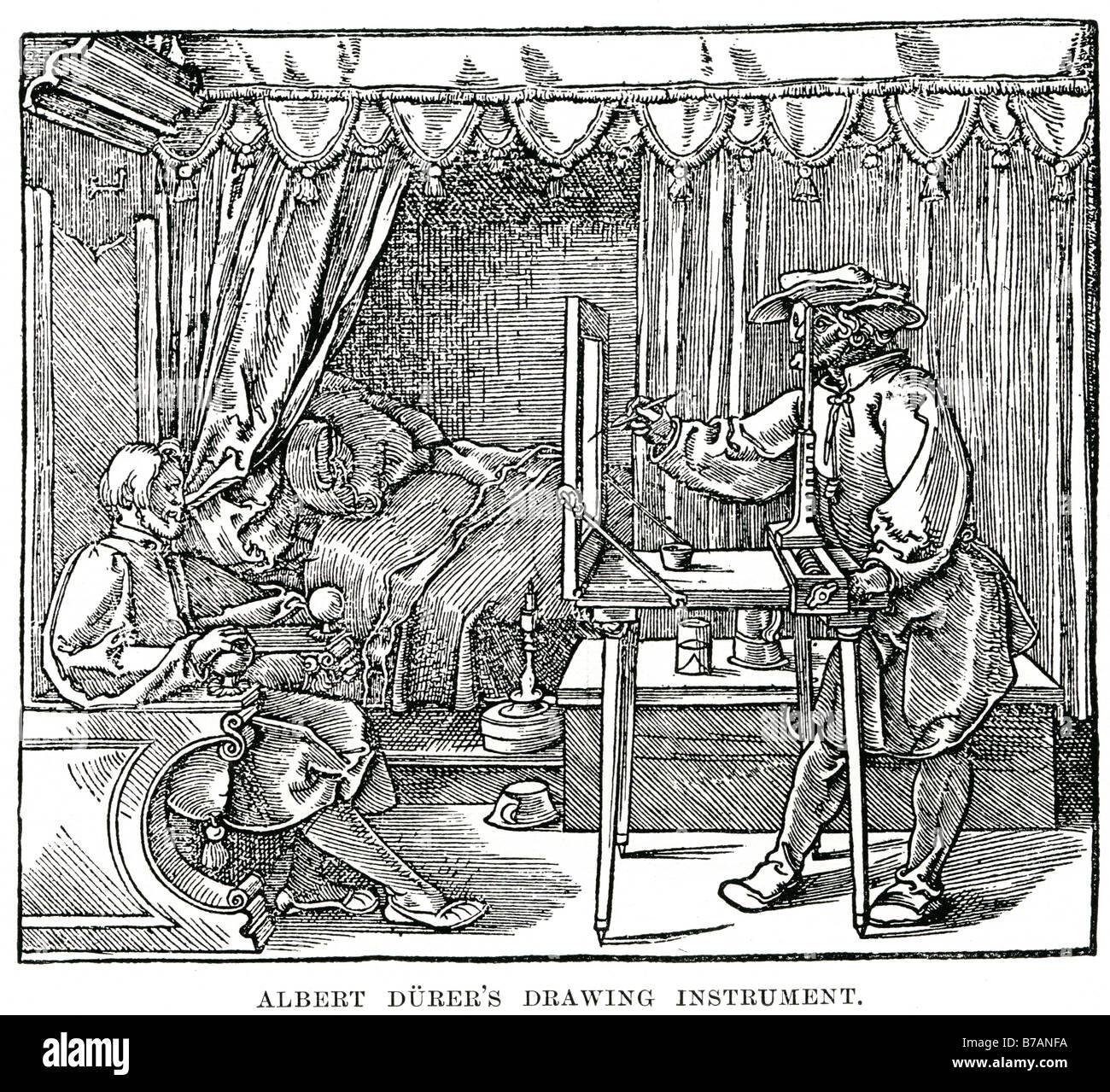 Albert Durer Zeichnung Instrument Albrecht Dürer 21 Mai 1471 ? April 6 1528 deutscher Maler Grafiker Theoretiker Stockbild