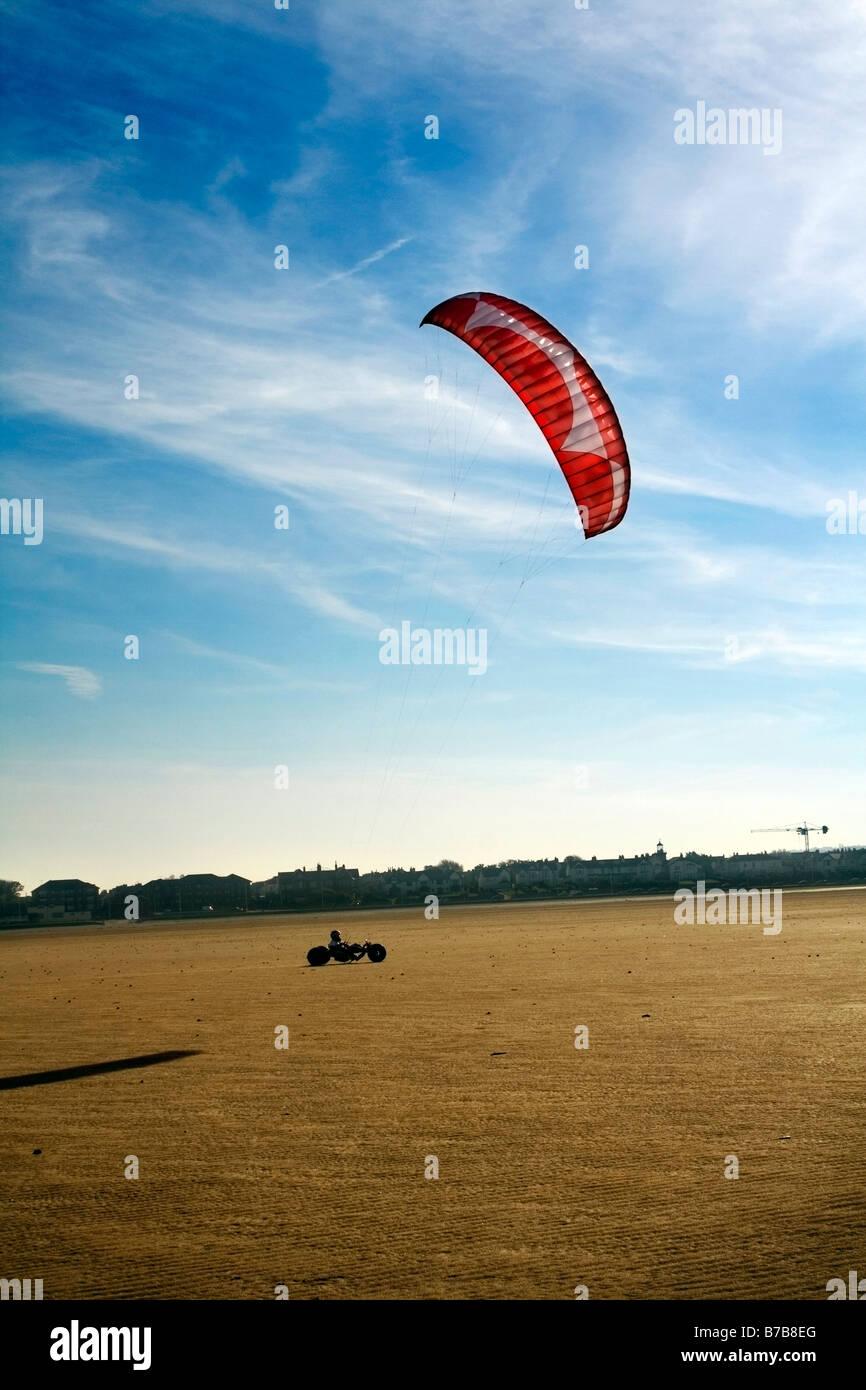 Land-kite Stockbild
