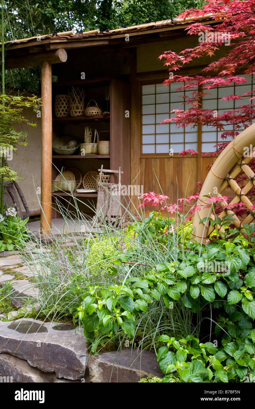 Japanischer Garten Mit Bambus Stockfoto Bild 21766353 Alamy