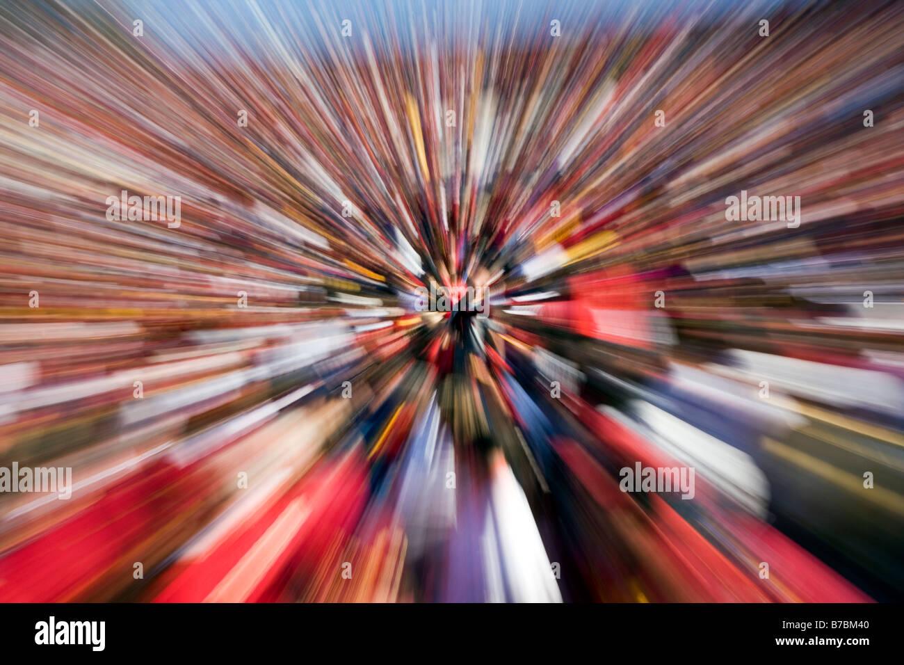 Blick auf die Menge, jährliche neue Jahre Tag Rose Bowl-Football-Spiel. Stockbild