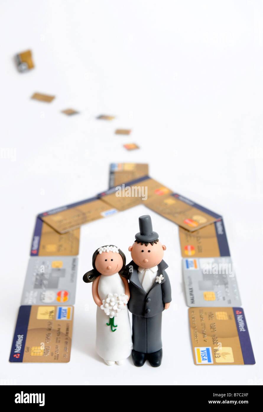 Comic Brautpaar Figuren Fur Die Dekoration Einer Hochzeitstorte