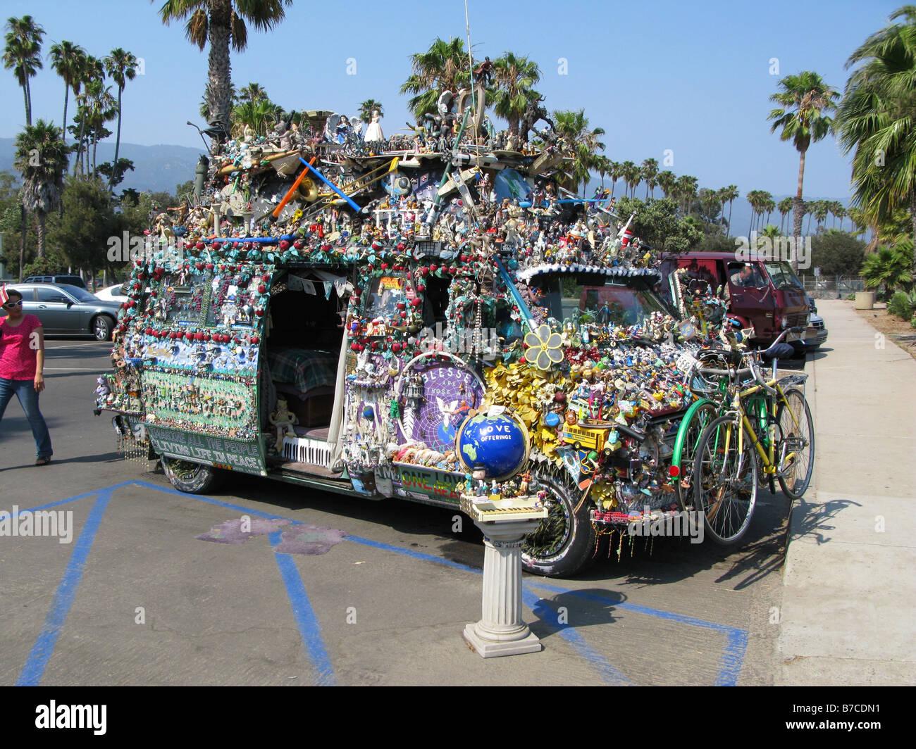 Hippie Liebe Wagon In Santa Barbara Kalifornien Usa Stockfoto
