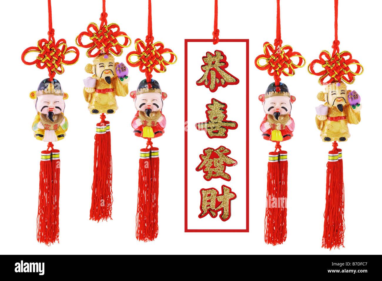 Chinesisches Neujahr Wohlstand Figur und günstig Grüße zum neuen ...