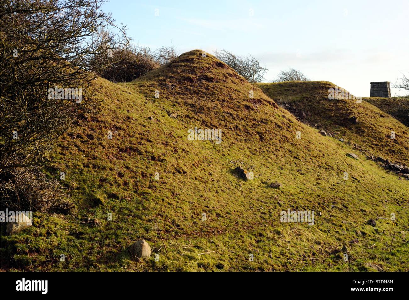 Eisenerz verderben Haufen. LINDAL-in-Furness, Cumbria, England, Vereinigtes Königreich, Europa. Stockbild