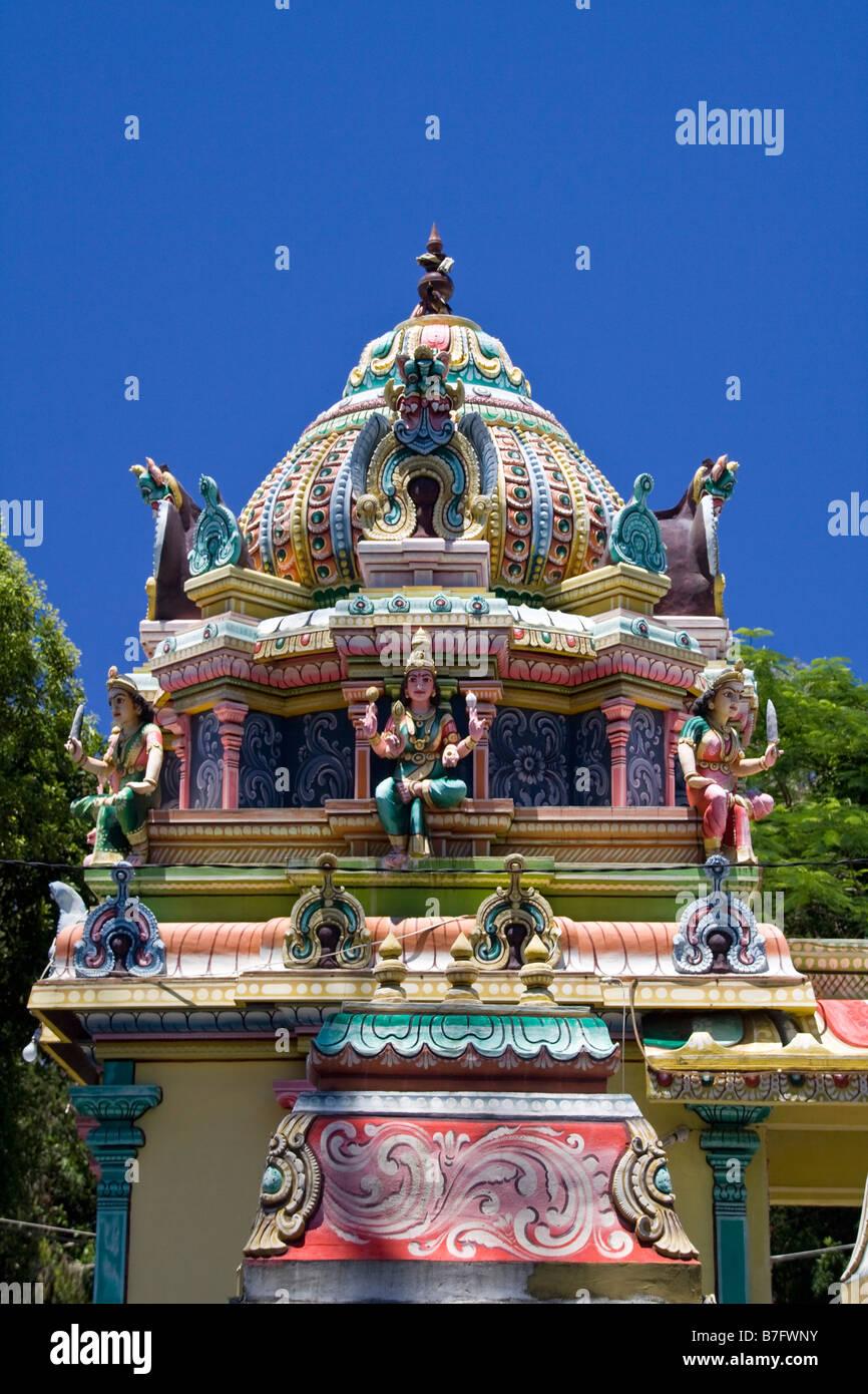 Hindu Tempel Mauritius Afrika Stockbild