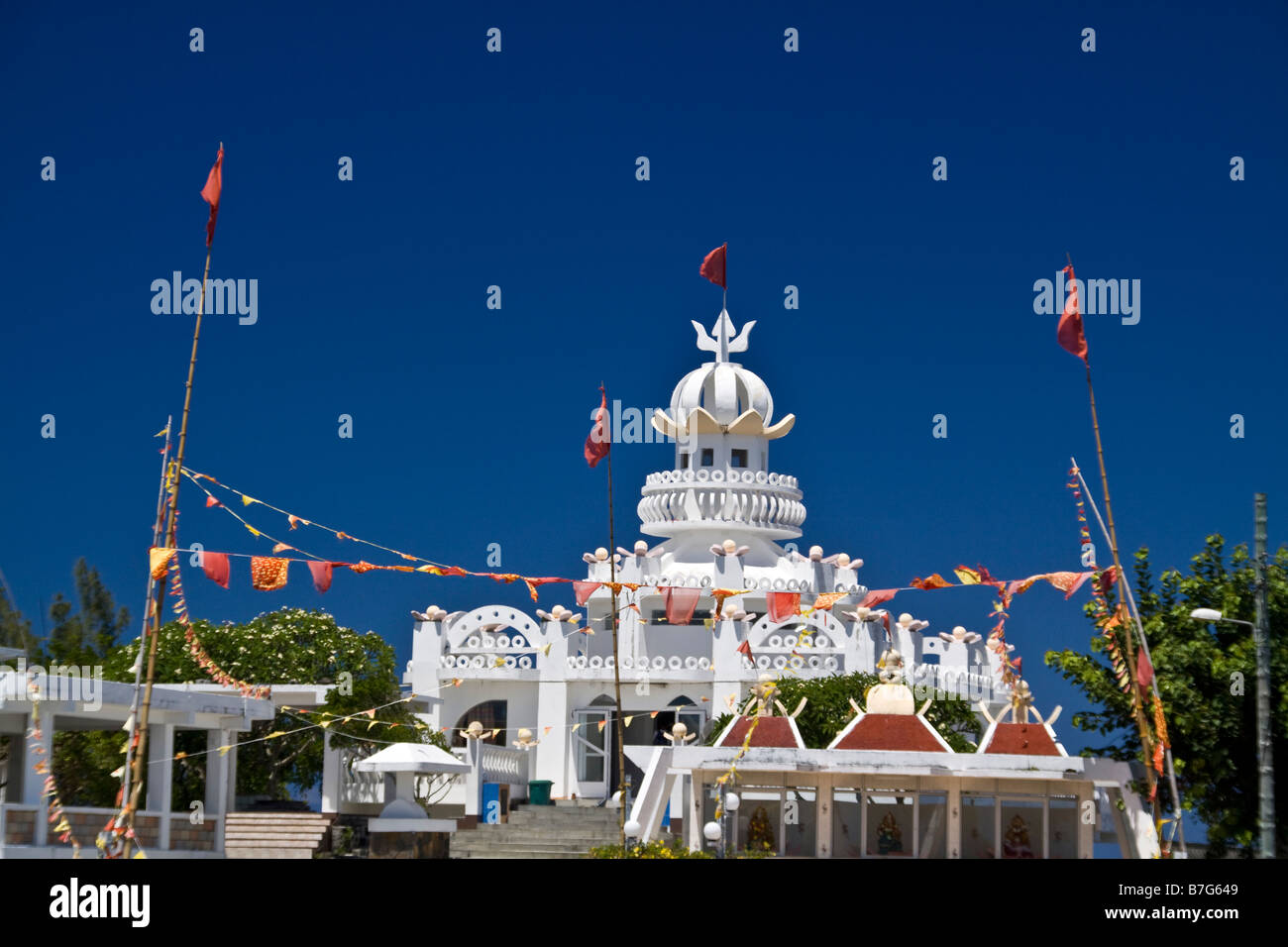 Sagar Shiv Mandir Hindu Tempel Mauritius Afrika Stockbild