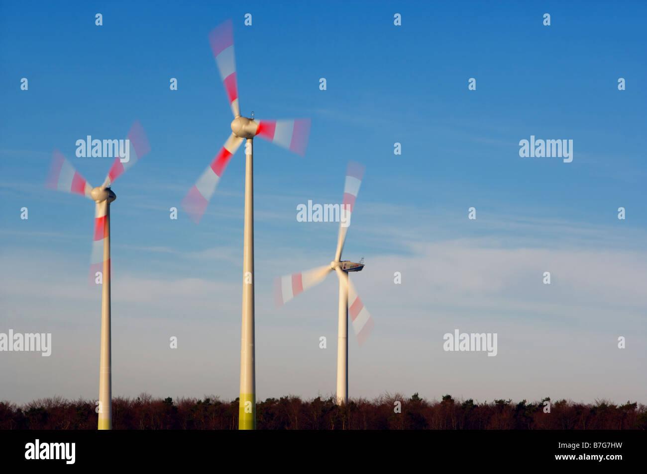 Wind-Energie-Anlage Stockbild