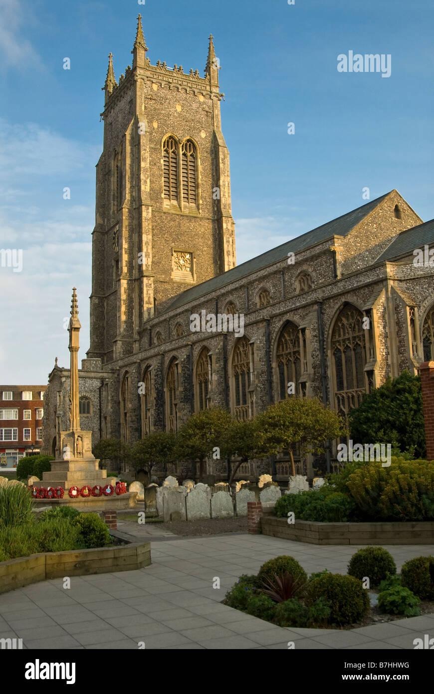 Die Pfarrkirche St. Peter und St. Paul in Cromer, Norfolk, England, UK. Stockbild