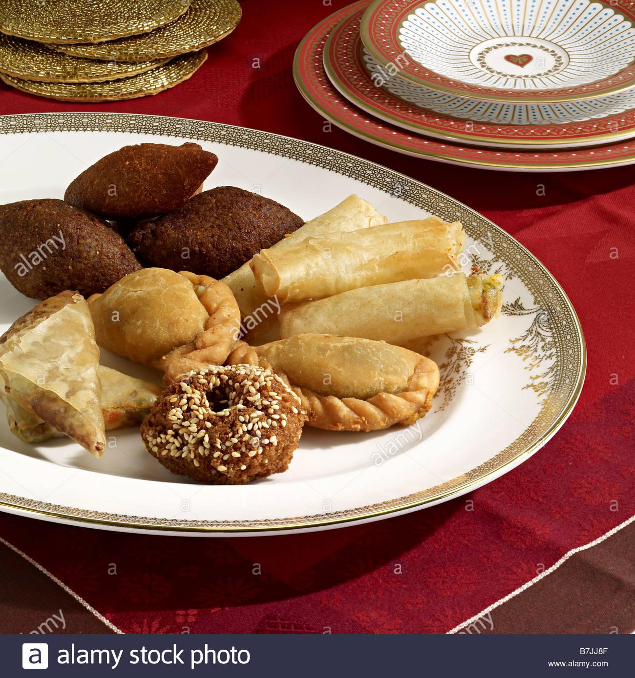 orientalische Snacks mezze Stockbild