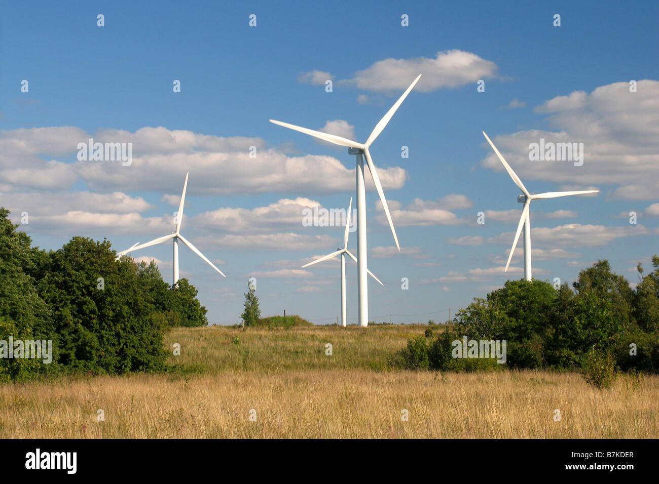 Wind-Generator, Harjumaa, Estland, Europa Stockbild
