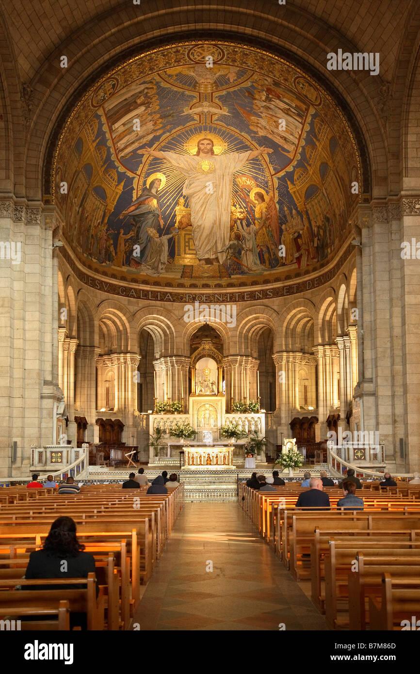 Innenraum der basilika sacre coeur montmartre stockfoto for Zimbra mail ministerio del interior