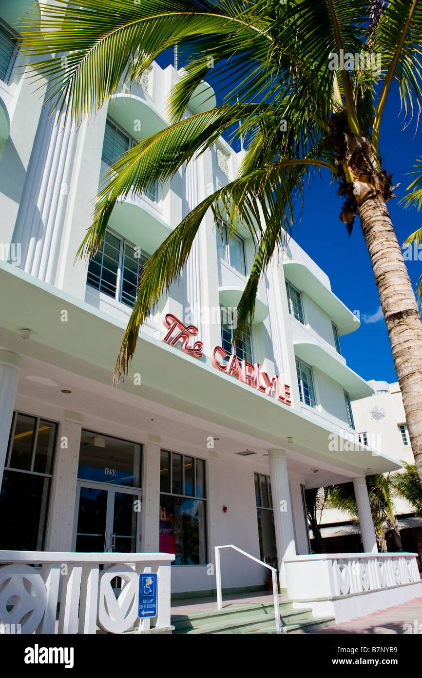 The Carlyle Art-deco-Hotel in Miami, South Beach, lackiert ...