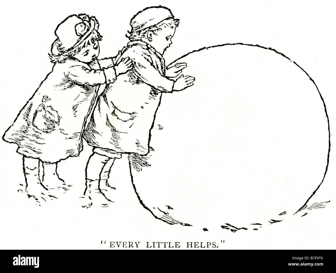 Sprüche Die Jedes Bisschen Hilft Schneeball Schnee Mann 2