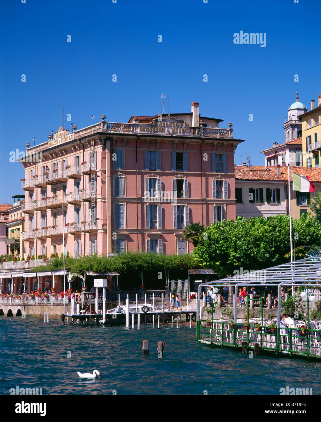 Das Hotel Metropole, Bellagio, Lombardei, Italien. Stockbild