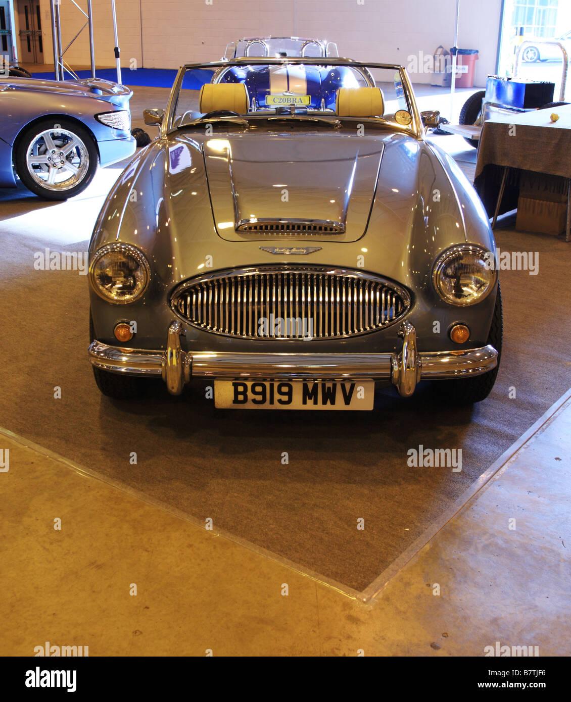 Austin Healey Oldtimer ein UK-Auto show Stockbild