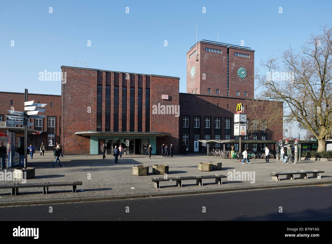 Architekt Oberhausen oberhausen hauptbahnhof stadtseite 1930 bis 1934 erbaut