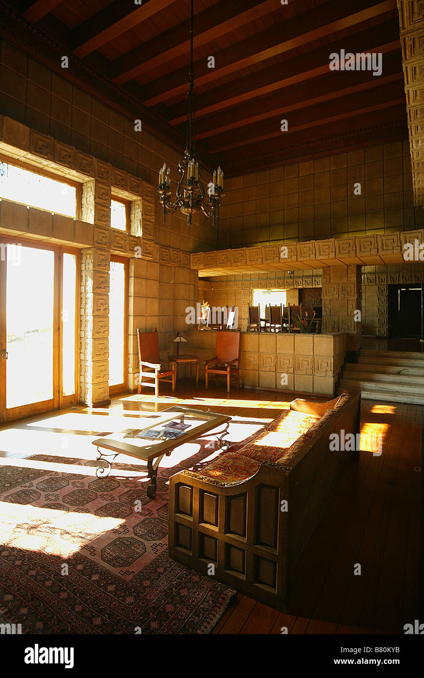 ennis house stockfotos ennis house bilder alamy. Black Bedroom Furniture Sets. Home Design Ideas